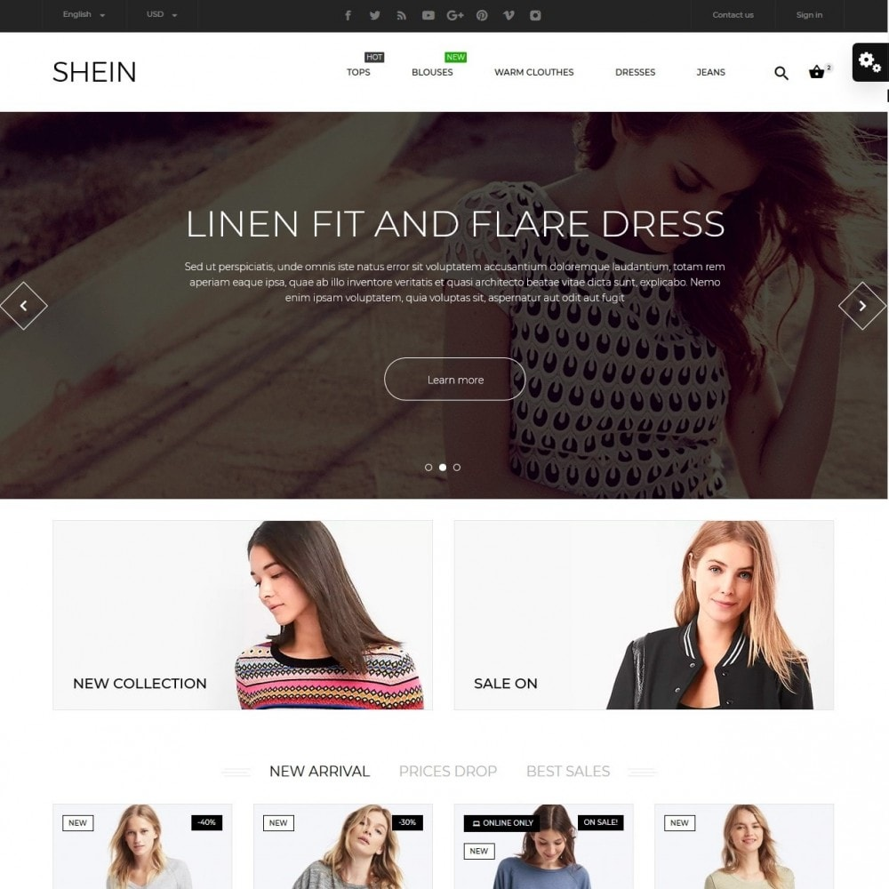 theme - Fashion & Shoes - Shein Fashion Store - 2