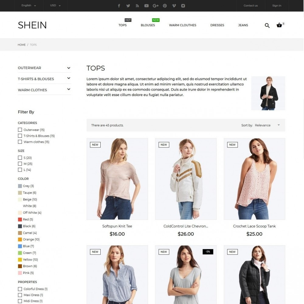 theme - Fashion & Shoes - Shein Fashion Store - 7