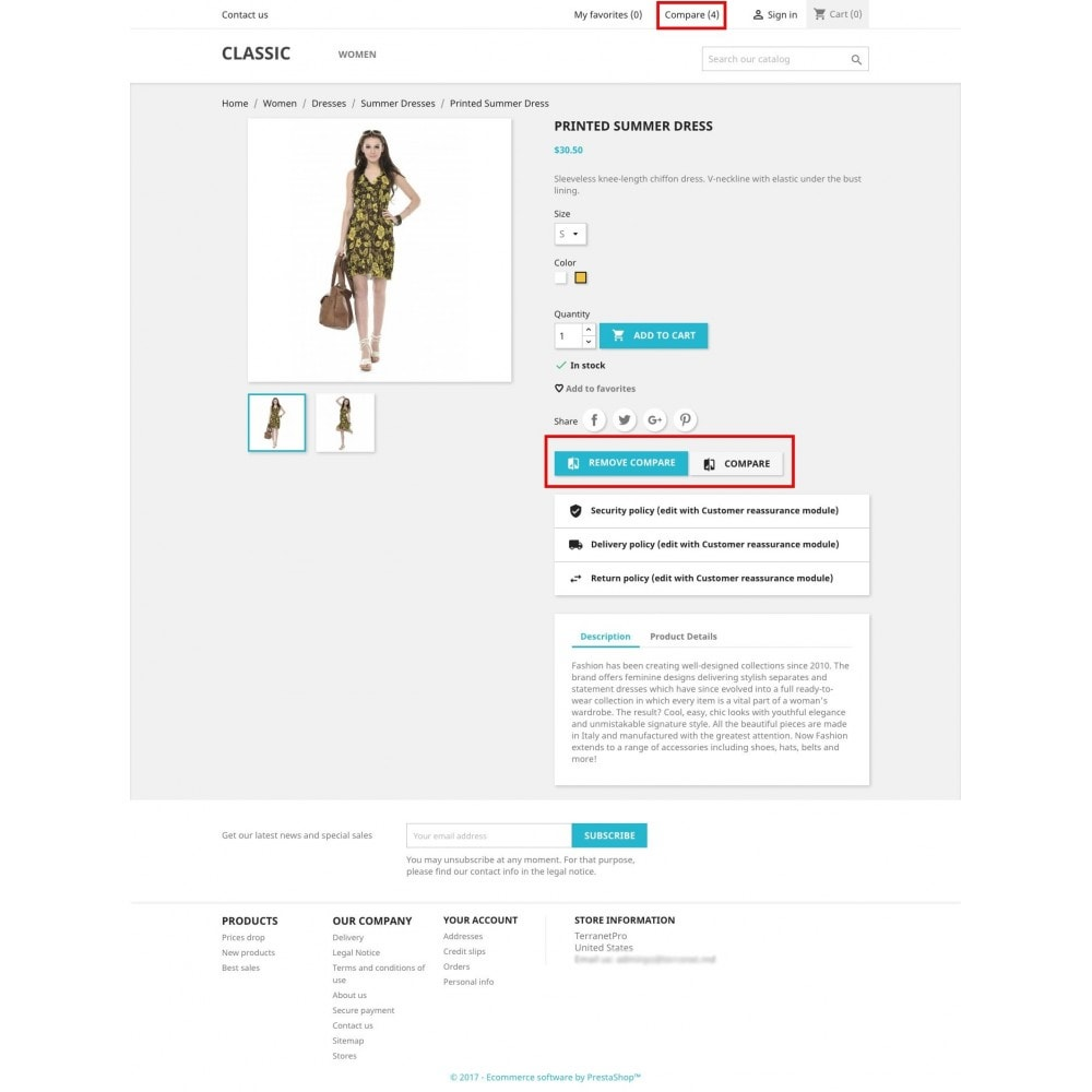 module - Comparateurs de prix - Add to compare products (from Basket/Cart UpSale) - 4