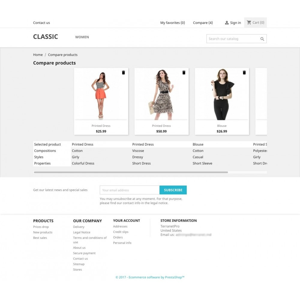 module - Comparateurs de prix - Add to compare products (from Basket/Cart UpSale) - 5