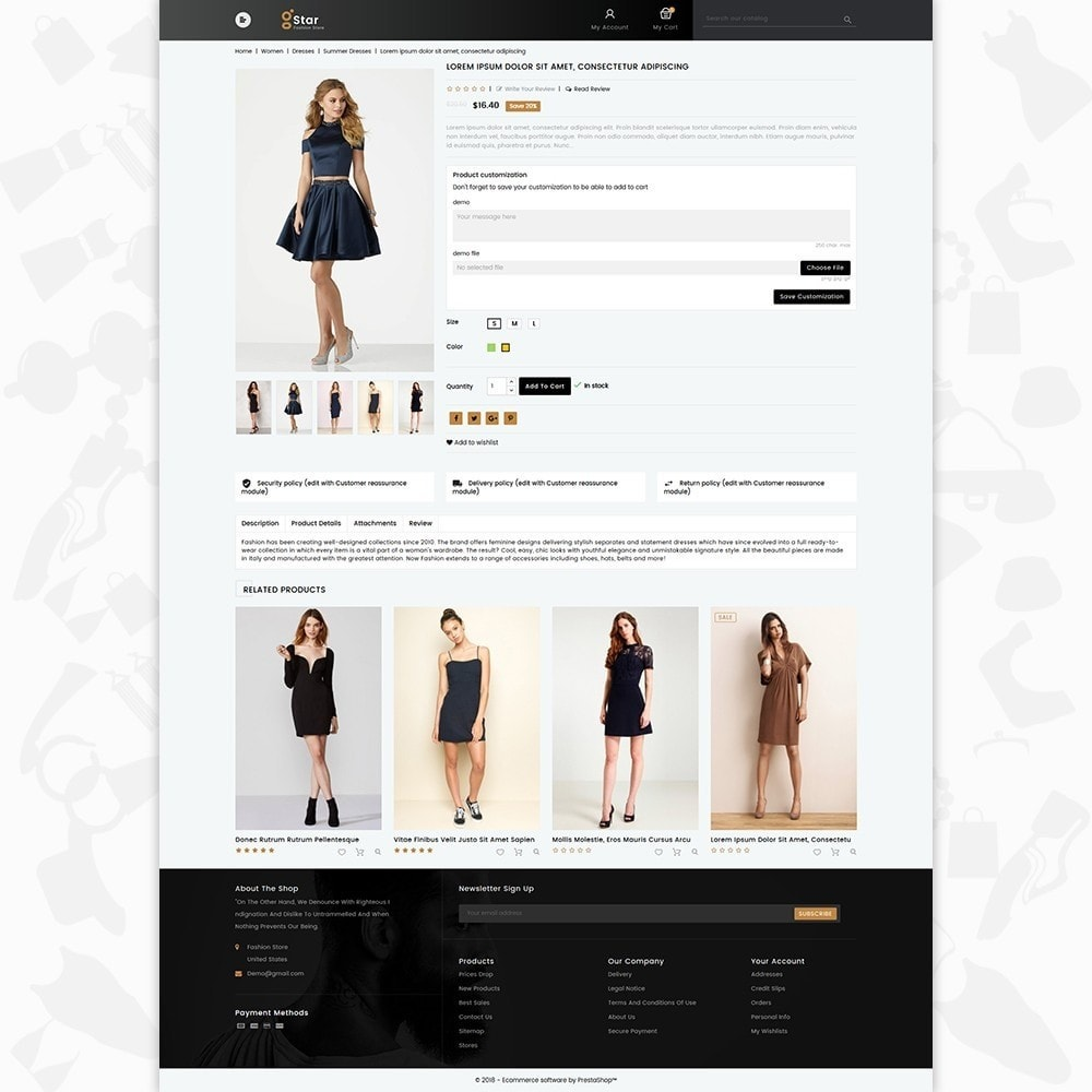 theme - Moda & Obuwie - gStar - The Fashion Store - 5