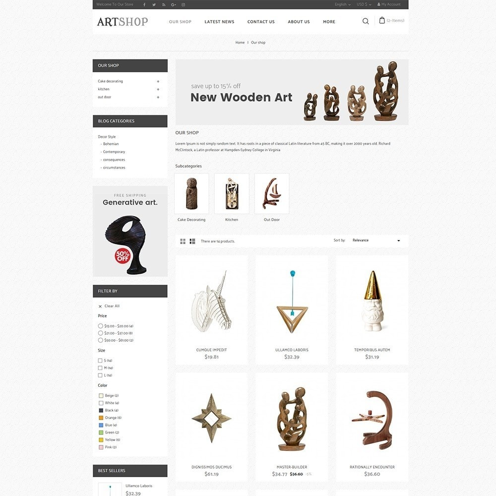 theme - Casa & Jardins - Art Shop - 4