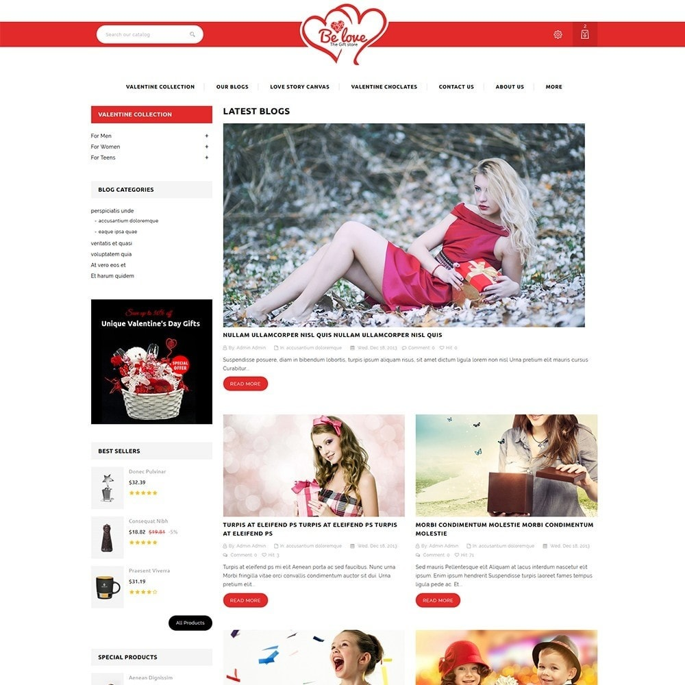 theme - Regali, Fiori & Feste - Belove Valentine Gift Shop - 7