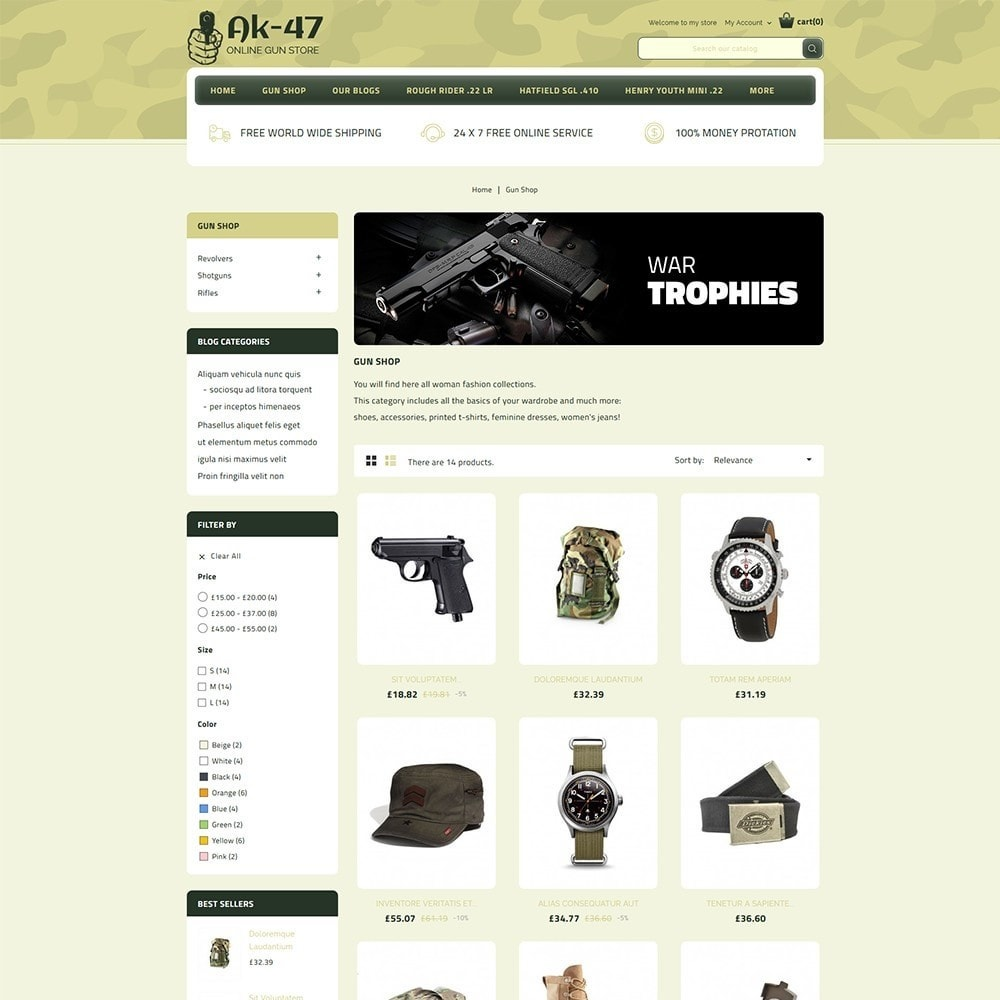 theme - Auto & Moto - AK47 Gun & Tools Store - 4