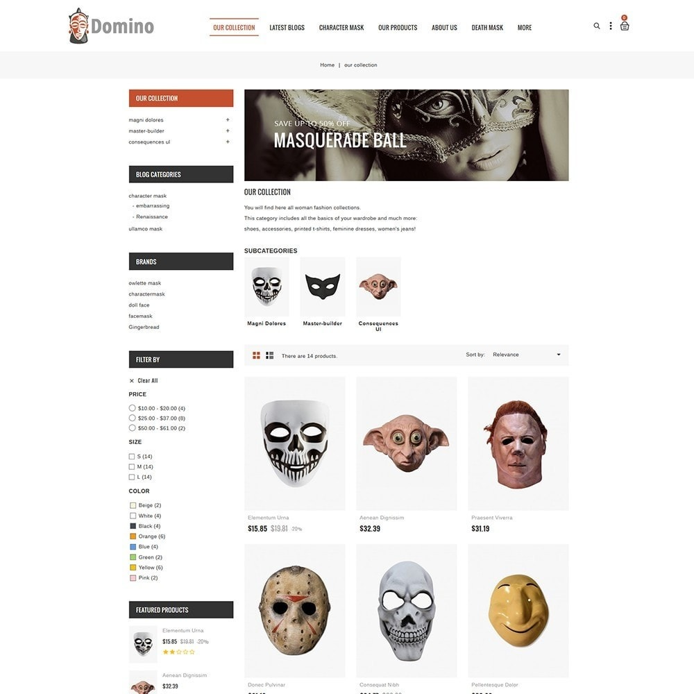 theme - Mode & Chaussures - Domino Mask Store - 4