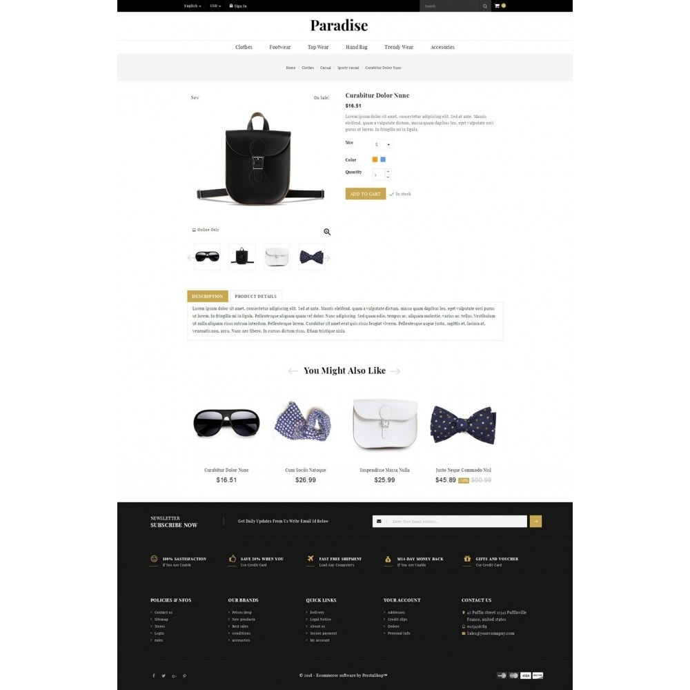 theme - Мода и обувь - Paradise - Multi Fashion Store - 4