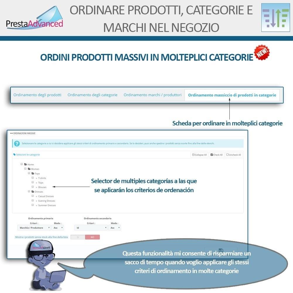 module - Personalizzazione pagine - Ordinamento di prodotti, categorie e marchi nel negozio - 9