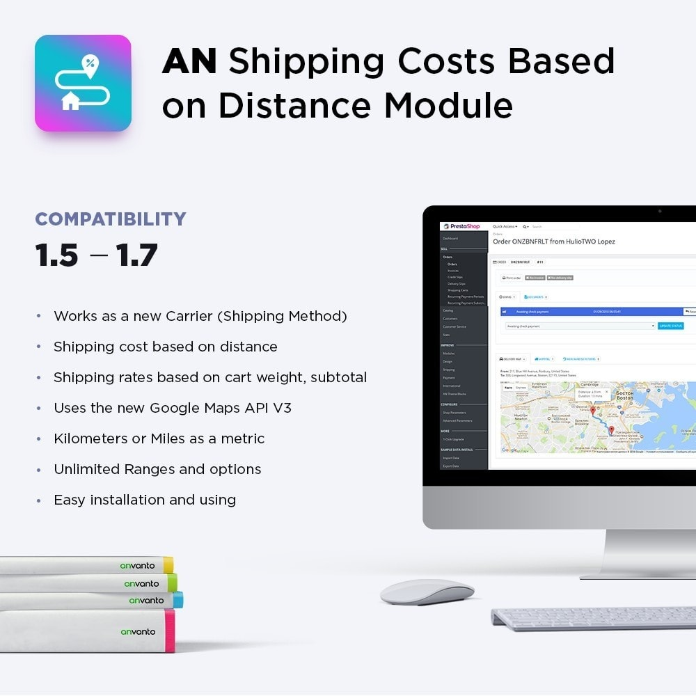 module - Gastos de transporte - Shipping Costs Based on Distance - 1