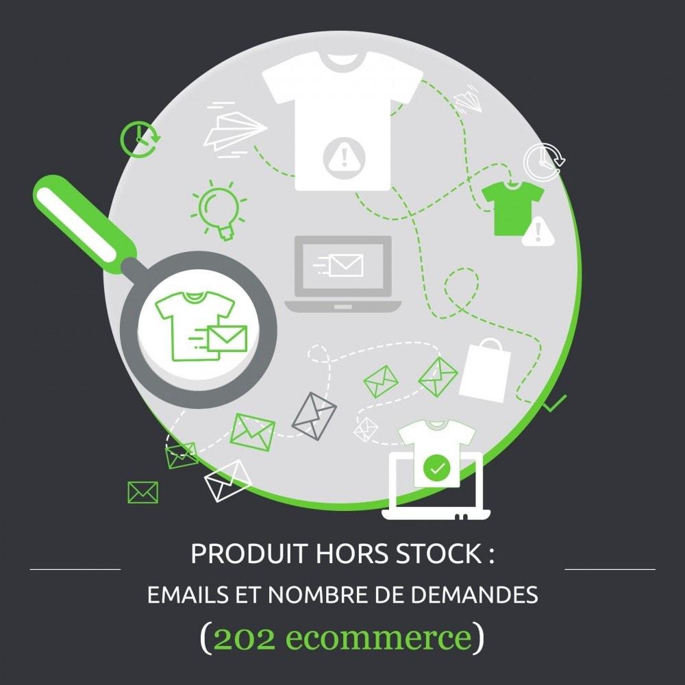 module - Gestion des Stocks & des Fournisseurs - Produit hors stock : emails et nombre de demandes - 1