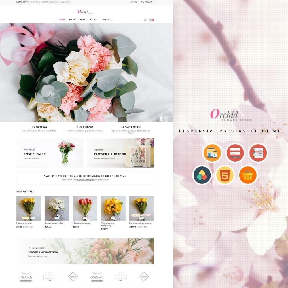 theme - Presentes, Flores & Comemorações - Leo Orchid - 1