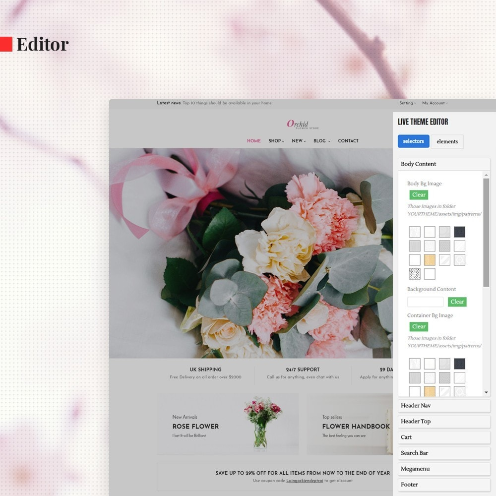 theme - Presentes, Flores & Comemorações - Leo Orchid - 3