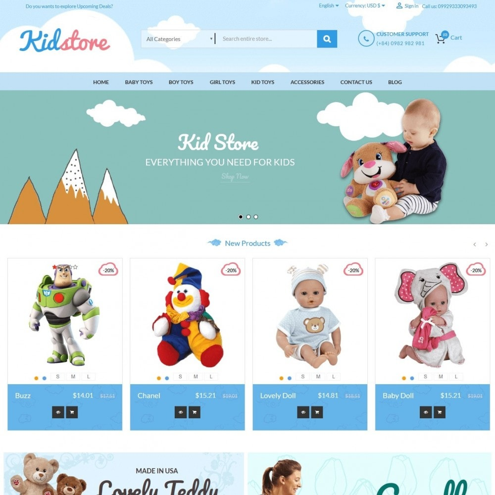 theme - Kids & Toys - Baby - Kids & Children Store - 1