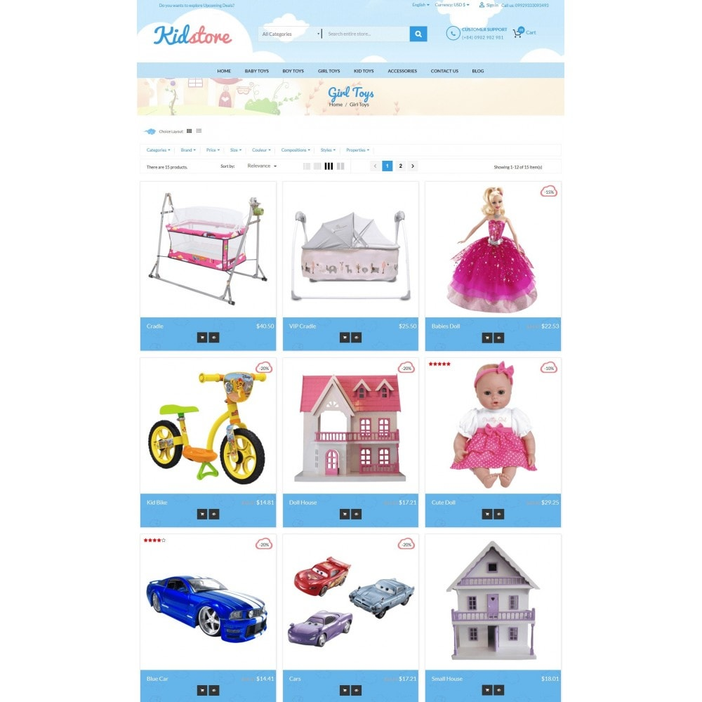 theme - Kids & Toys - Baby - Kids & Children Store - 3