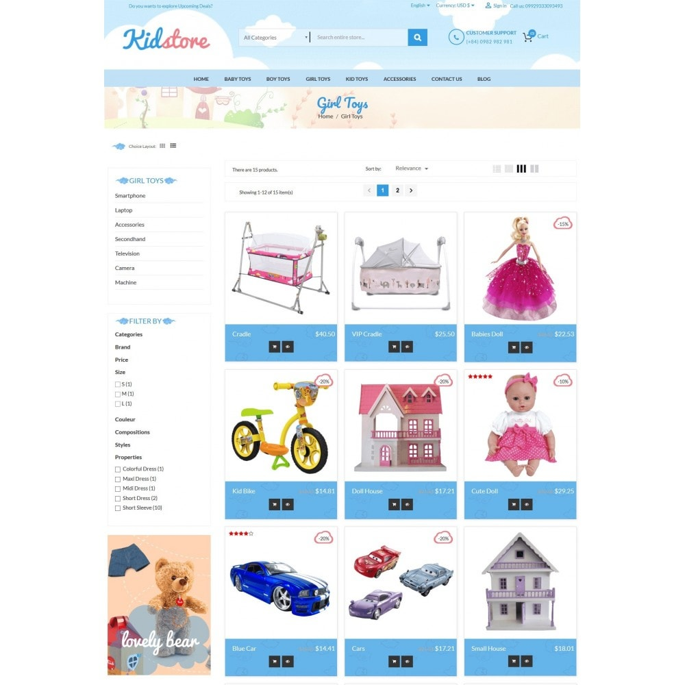 theme - Kids & Toys - Baby - Kids & Children Store - 4