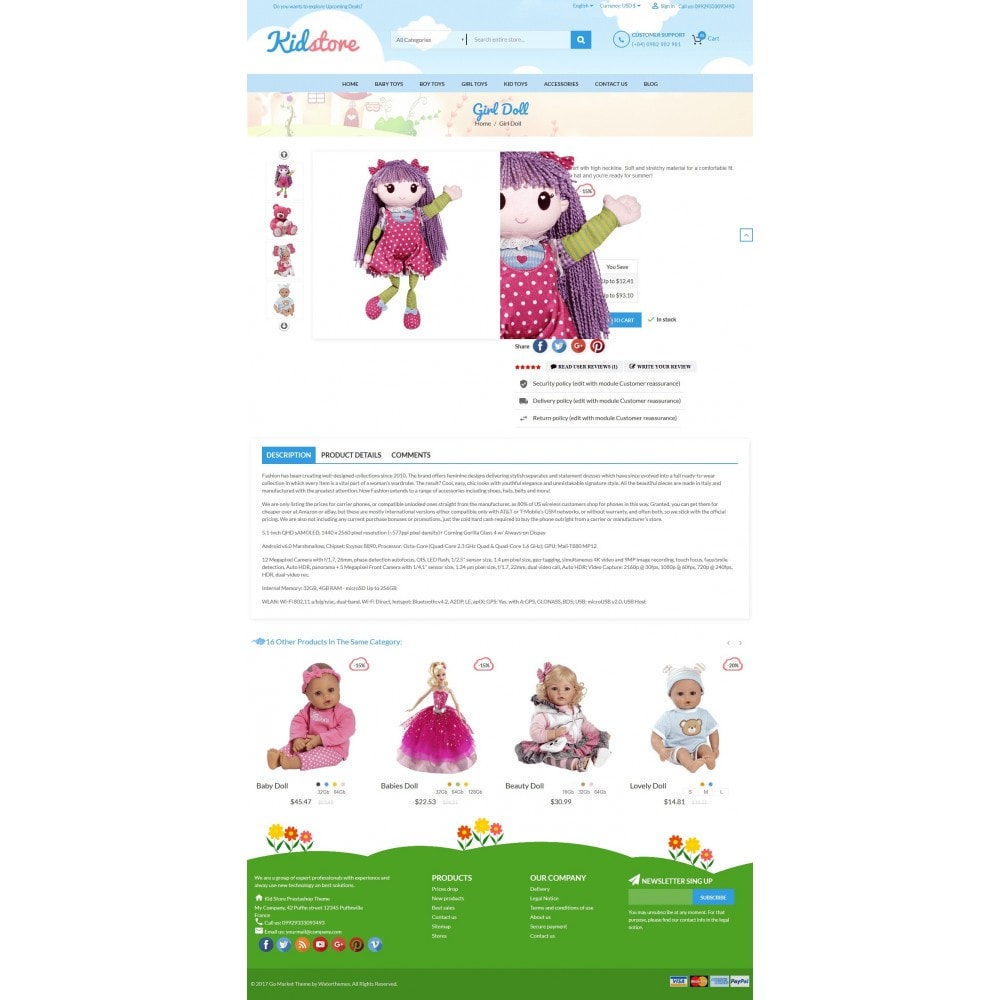 theme - Kids & Toys - Baby - Kids & Children Store - 5