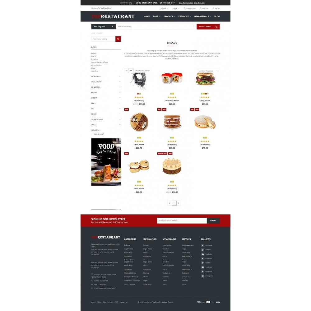 theme - Продовольствие и рестораны - Food & Restaurant - Topshop - 2