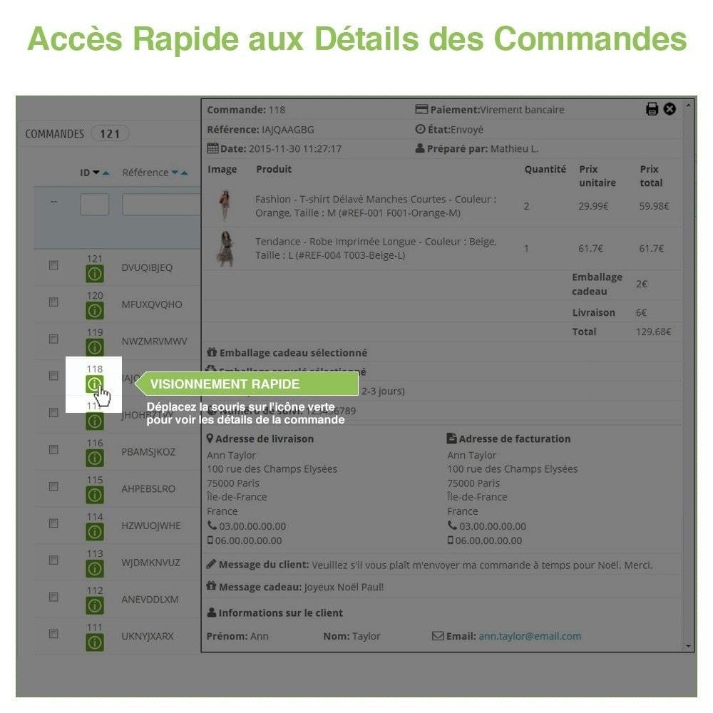 module - Gestion des Commandes - Aperçu / Accès Rapide aux Détails des Commandes - 3