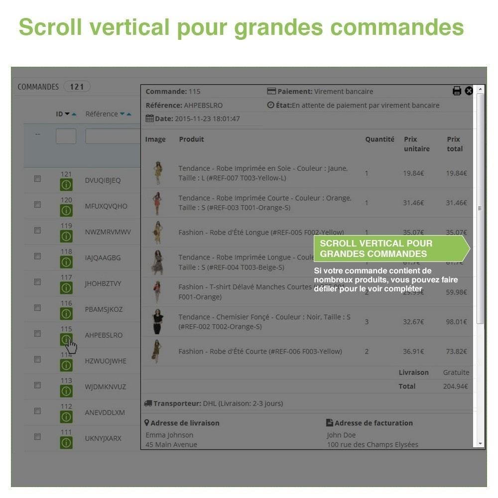 module - Gestion des Commandes - Aperçu / Accès Rapide aux Détails des Commandes - 4