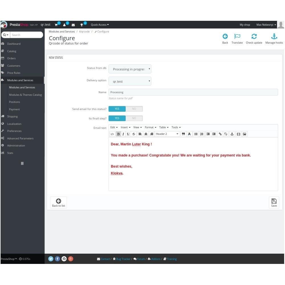module - Preparación y Envíos - Delivery Automation QR-code - 1
