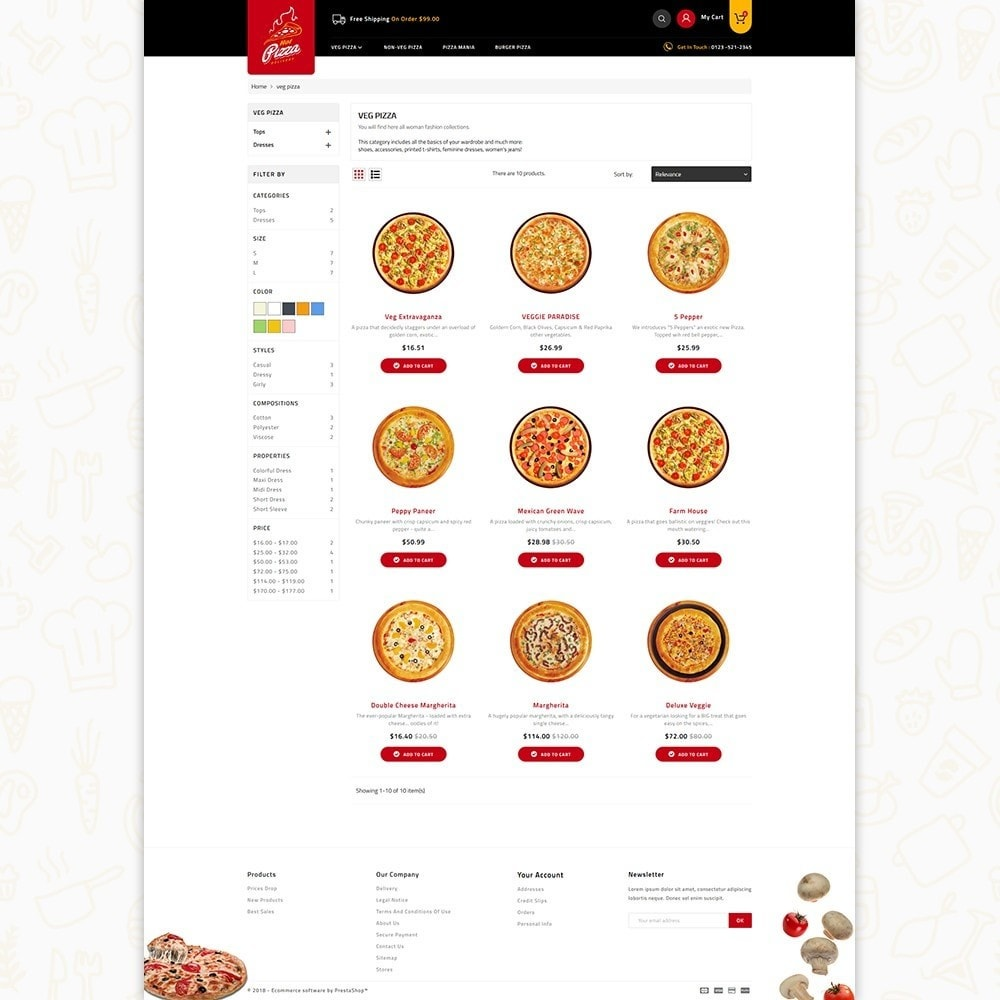 theme - Alimentation & Restauration - Hot Pizza House Store - 3