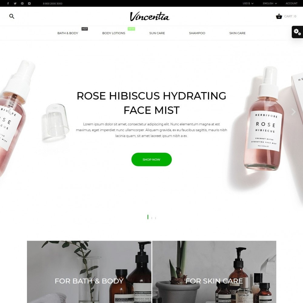 theme - Health & Beauty - Vincentia Cosmetics - 2