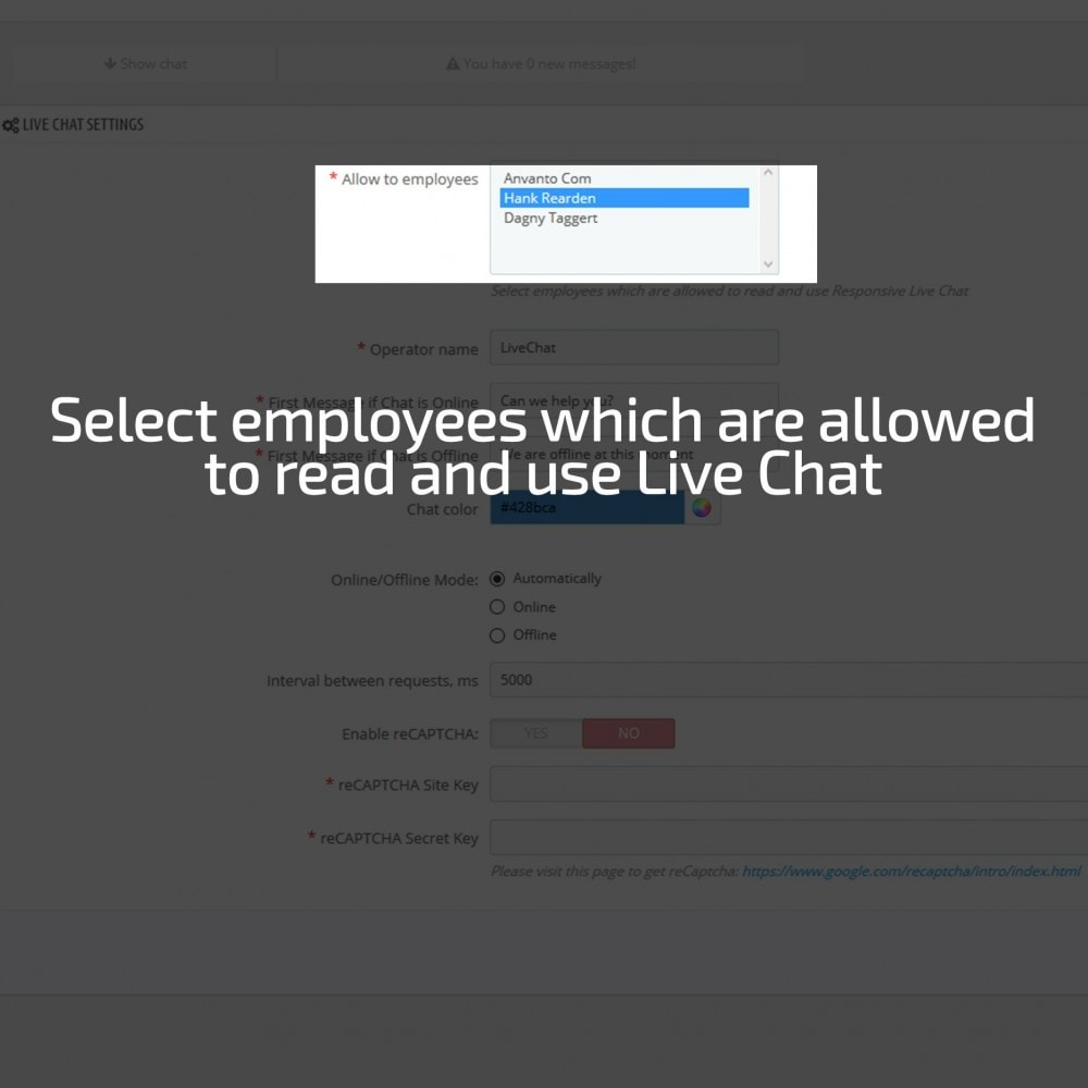 module - Support & Online-Chat - AN Responsive Live Chat - 8