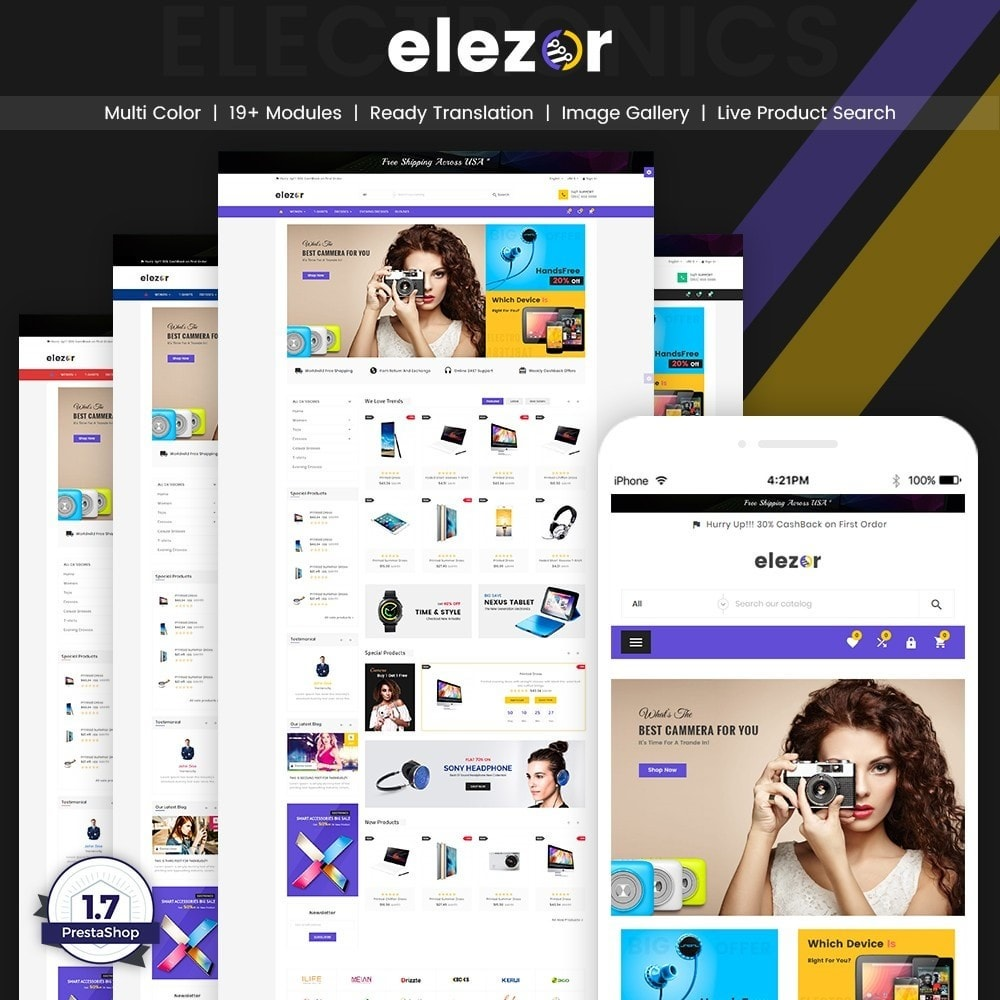 theme - Elektronika & High Tech - Elezor – Electronic Super Store v3 - 1