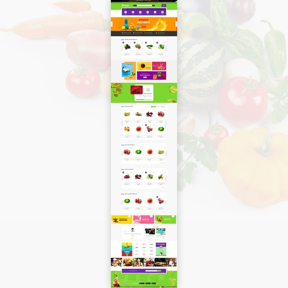 theme - Eten & Restaurant - Orangic – Fresh Green Foods Super Store - 2