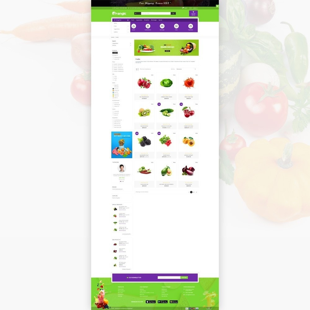 theme - Eten & Restaurant - Orangic – Fresh Green Foods Super Store - 3