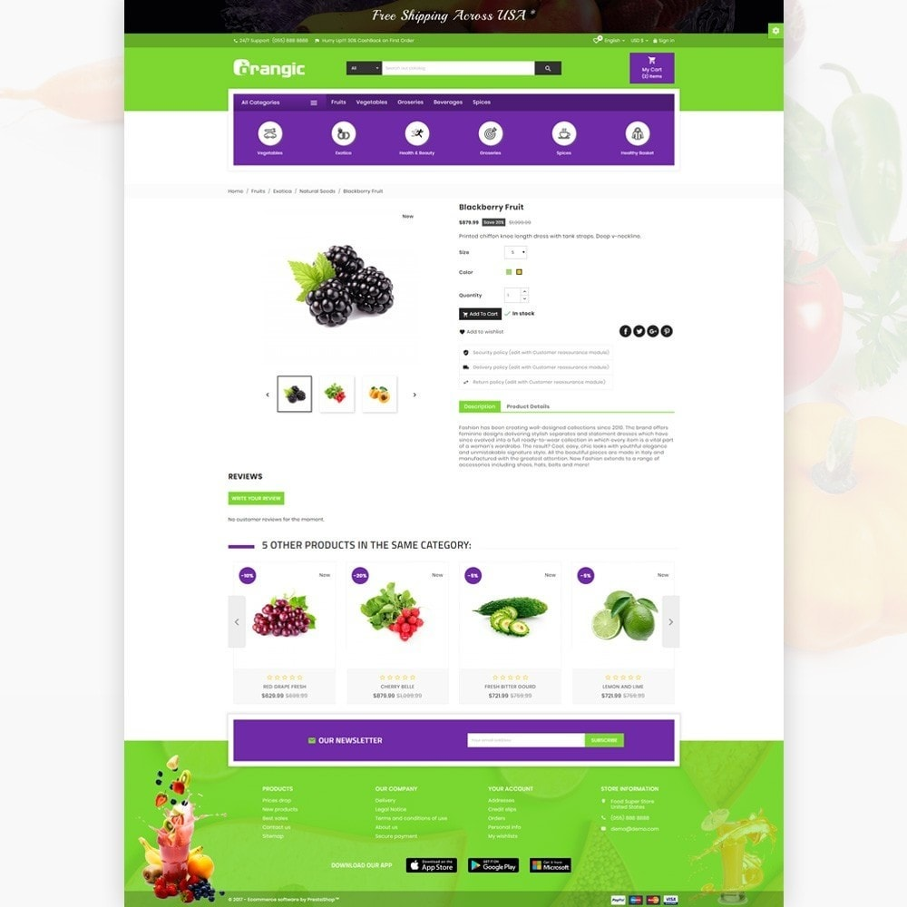 theme - Eten & Restaurant - Orangic – Fresh Green Foods Super Store - 4