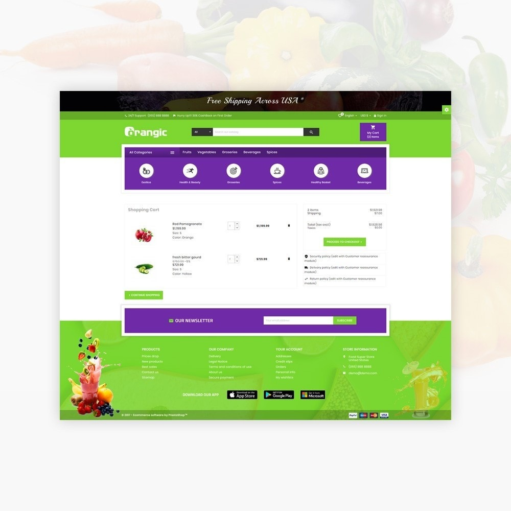 theme - Eten & Restaurant - Orangic – Fresh Green Foods Super Store - 5