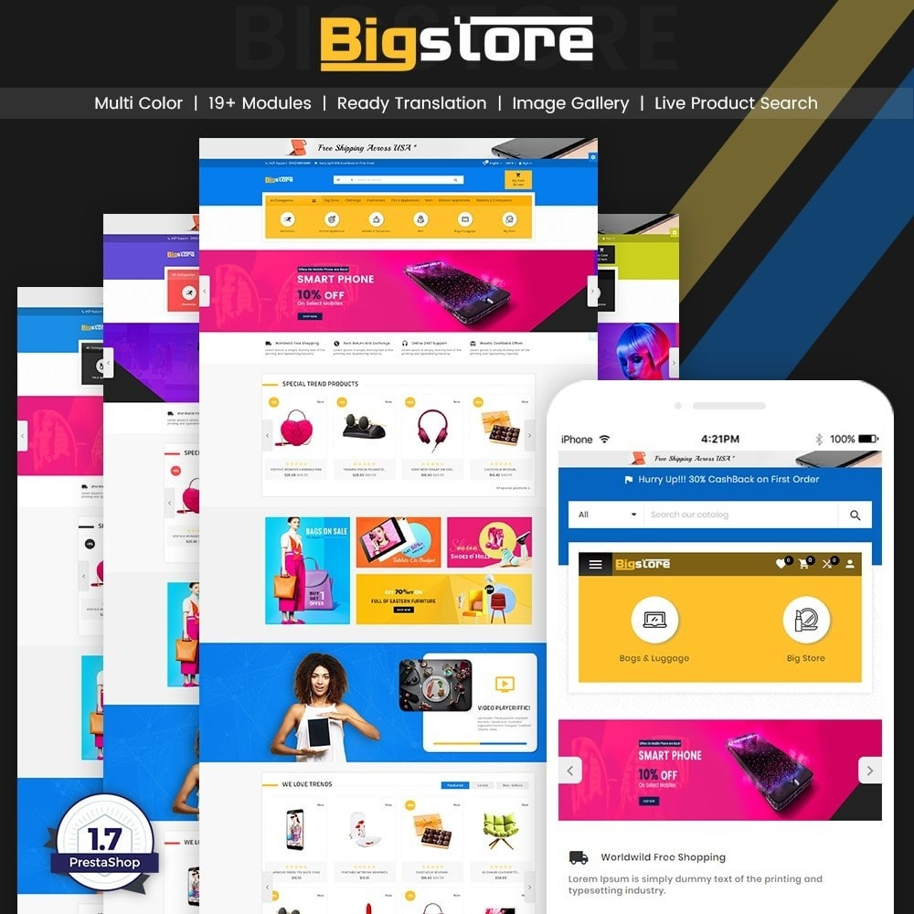 theme - Elettronica & High Tech - Big Super Store - Mega Electronic and Fashion - 1