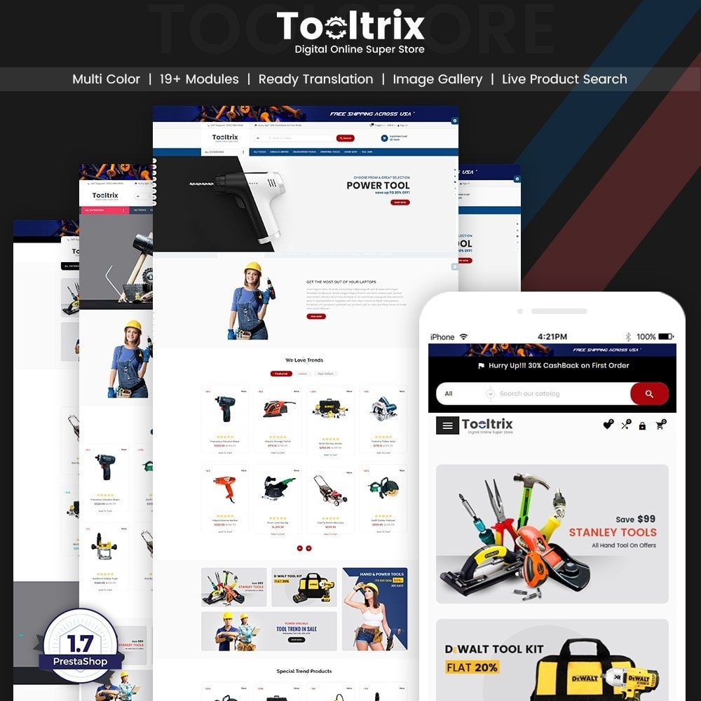 theme - Carros & Motos - ToolTrix – Tools and Parts Super Store v2 - 1