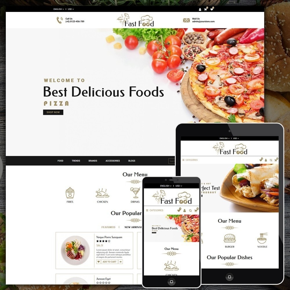 theme - Alimentation & Restauration - Fast Food Shop - 1