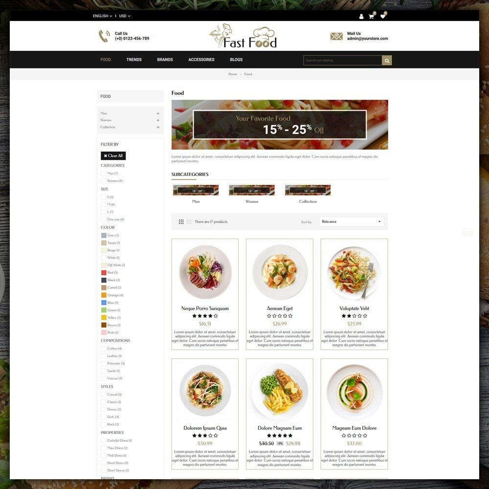 theme - Alimentation & Restauration - Fast Food Shop - 3