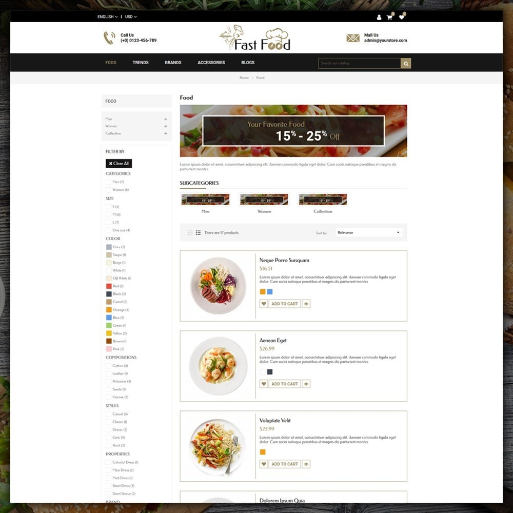theme - Alimentation & Restauration - Fast Food Shop - 4