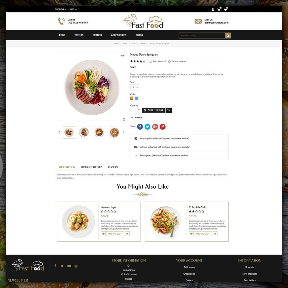 theme - Alimentation & Restauration - Fast Food Shop - 5