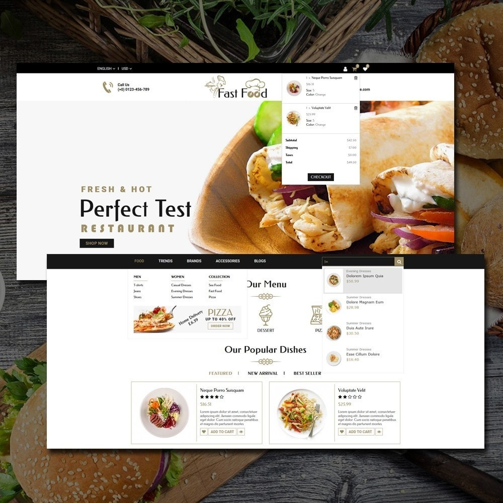 theme - Alimentation & Restauration - Fast Food Shop - 6