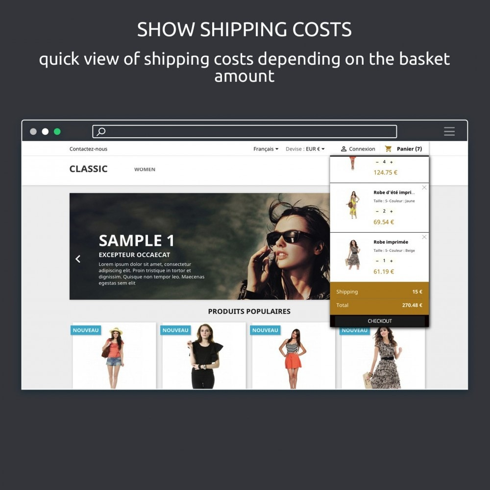 module - Front-Office-Funktionen - Block Cart : Show Shopping Cart on Hover - 5