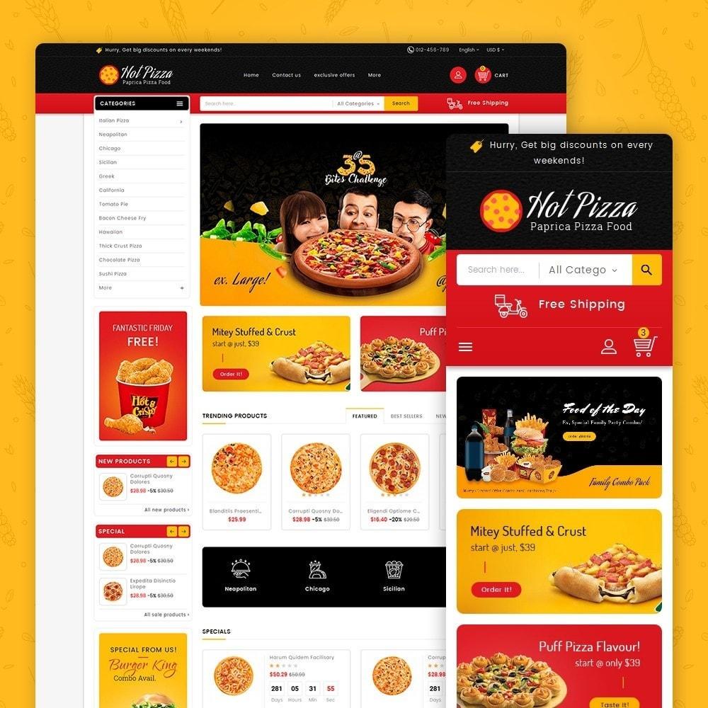 theme - Продовольствие и рестораны - Paprika Pizza - Fast Food - 1