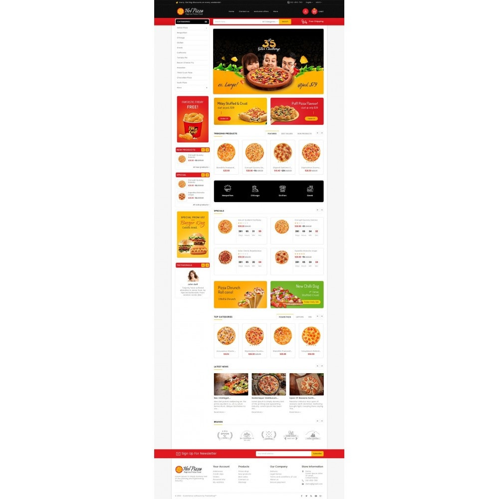 theme - Продовольствие и рестораны - Paprika Pizza - Fast Food - 2