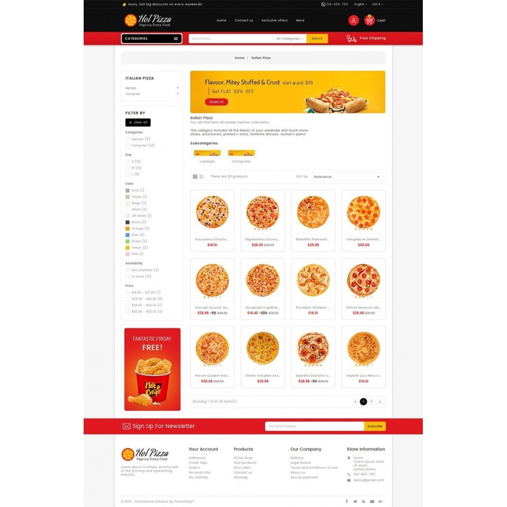 theme - Eten & Restaurant - Paprika Pizza - Fast Food - 3