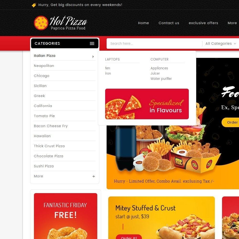 theme - Продовольствие и рестораны - Paprika Pizza - Fast Food - 8