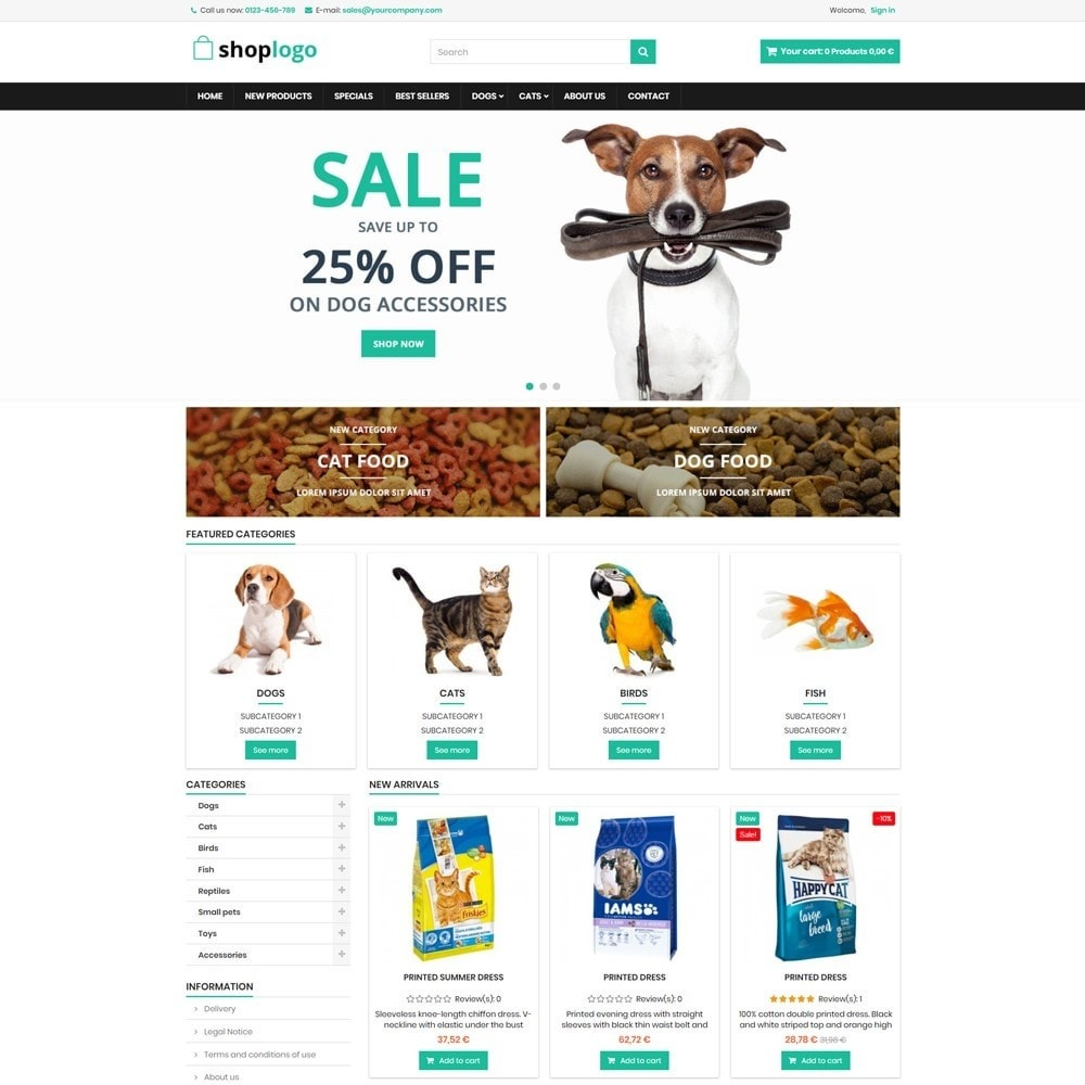 theme - Animali - P16AT13 Animals food and accessories store - 1