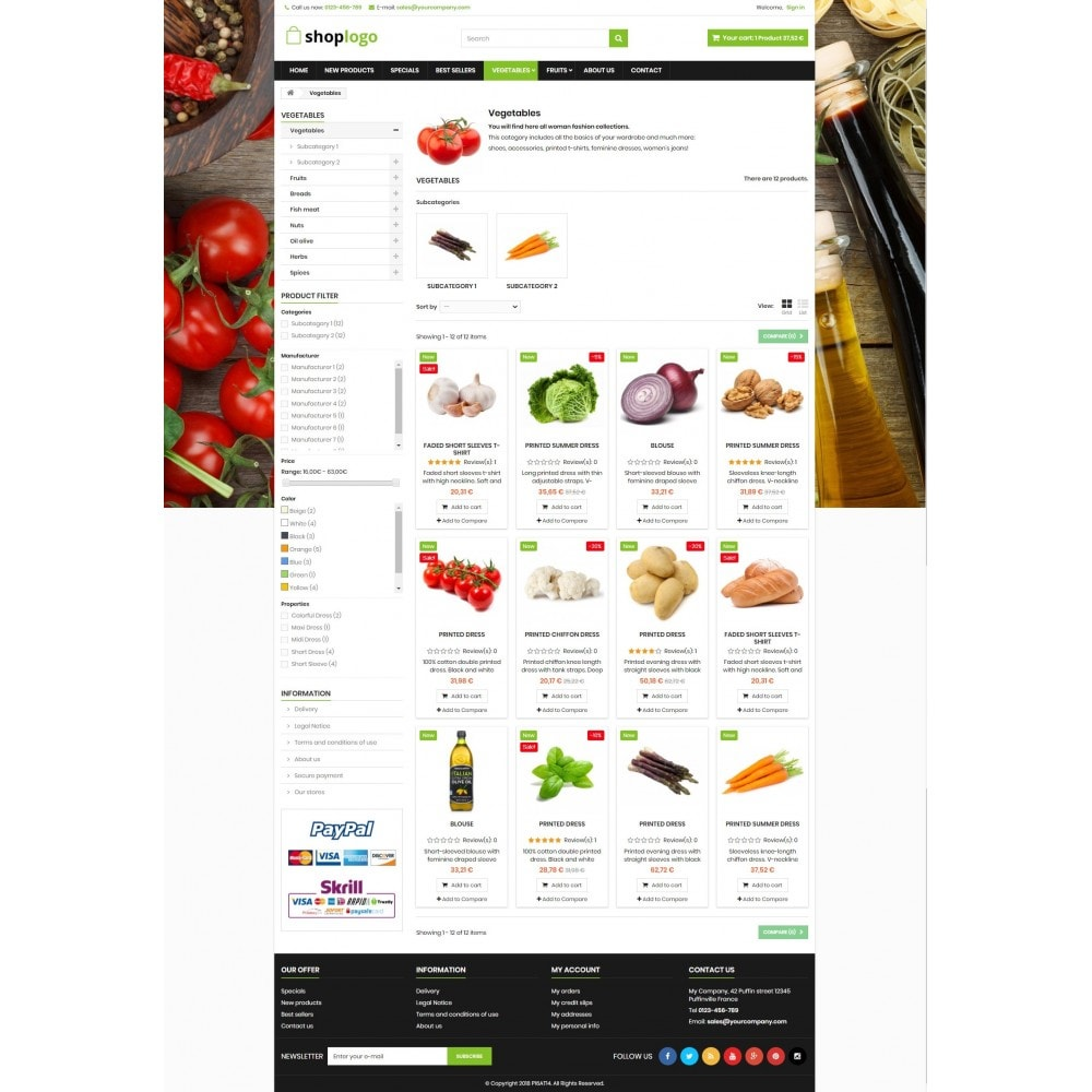 theme - Lebensmittel & Restaurants - P16AT14 Food store - 3