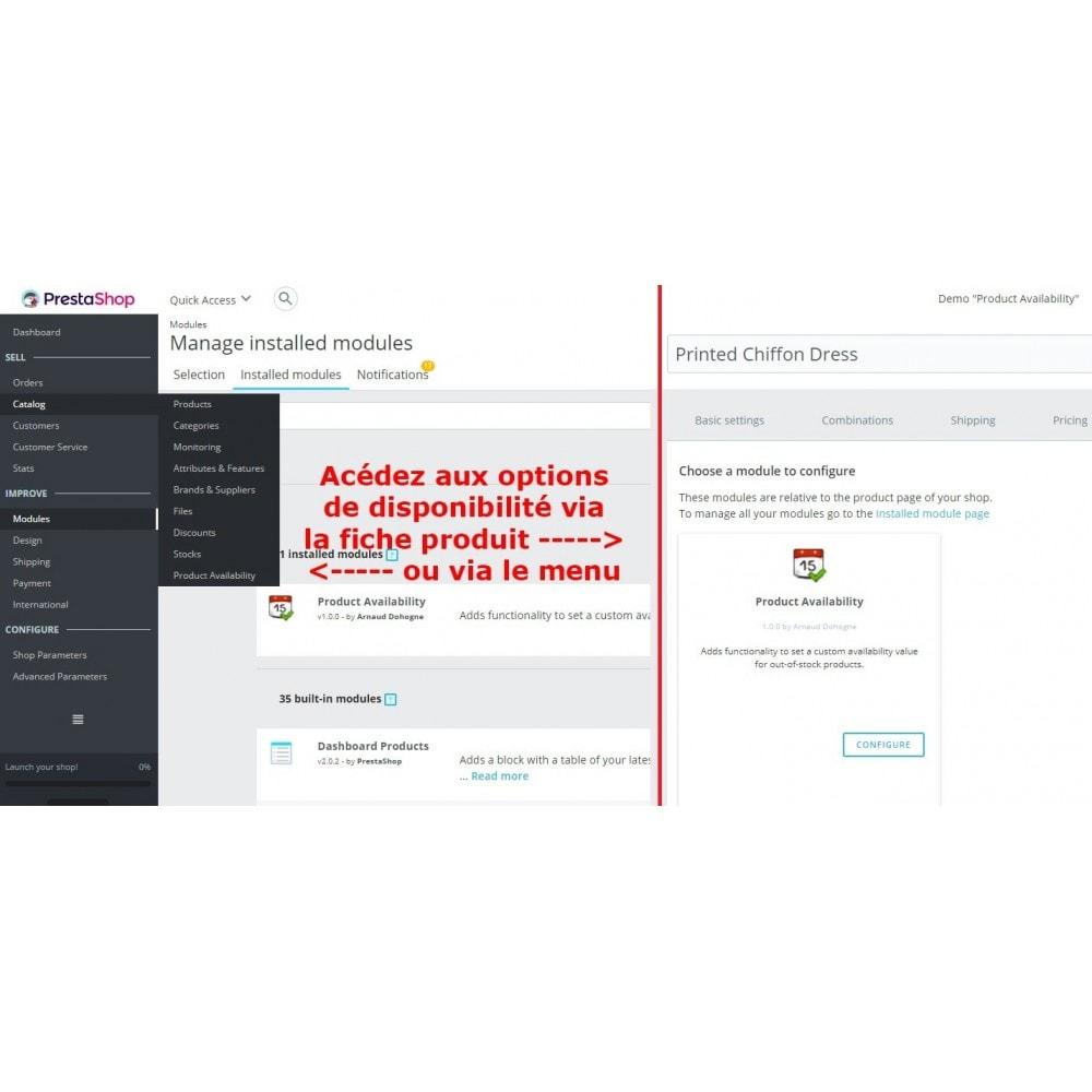 module - Information supplémentaire & Onglet produit - Disponibilité Produit - 2