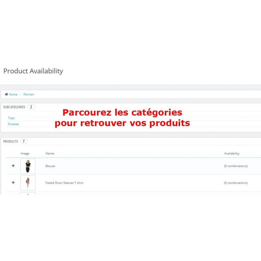 module - Information supplémentaire & Onglet produit - Disponibilité Produit - 3