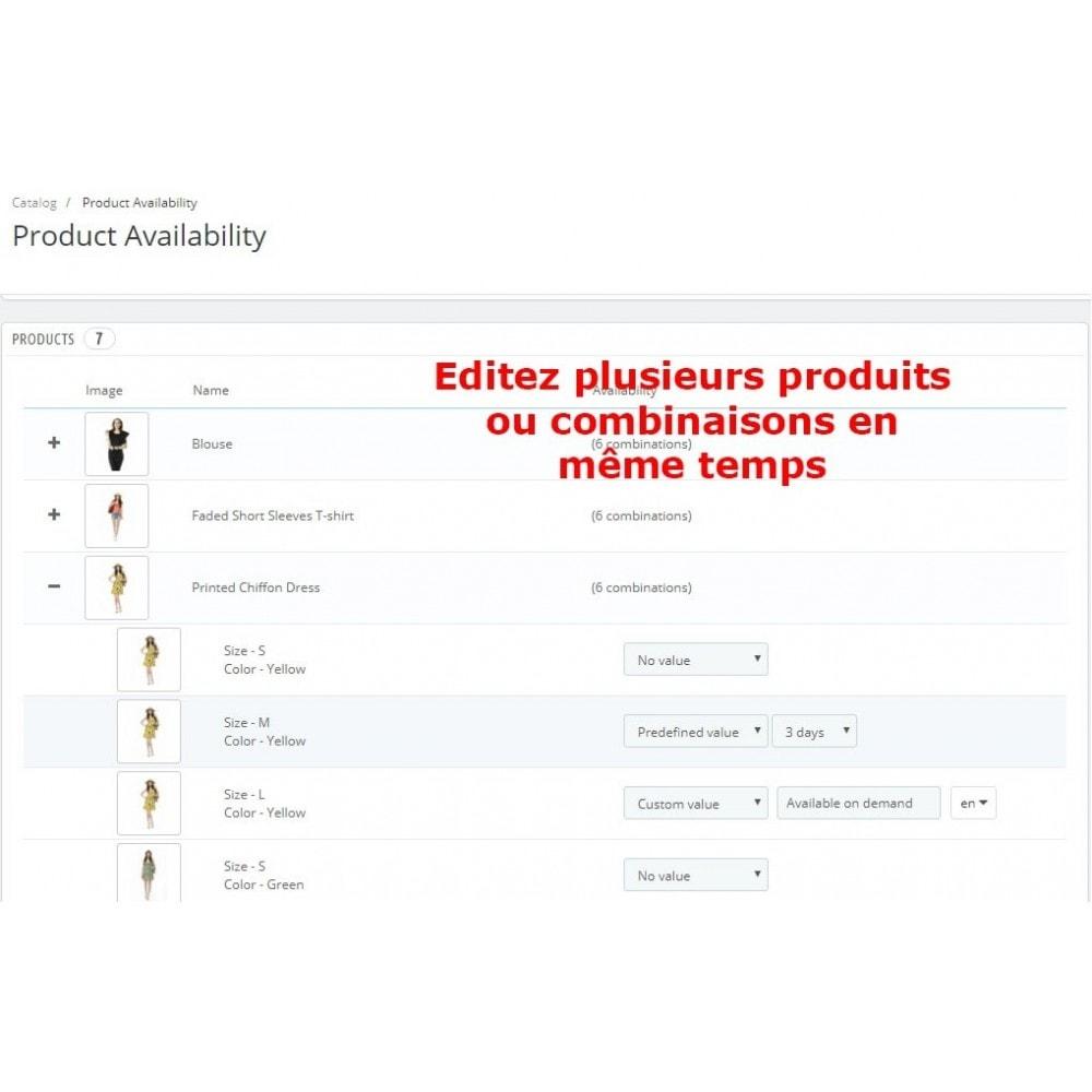 module - Information supplémentaire & Onglet produit - Disponibilité Produit - 4