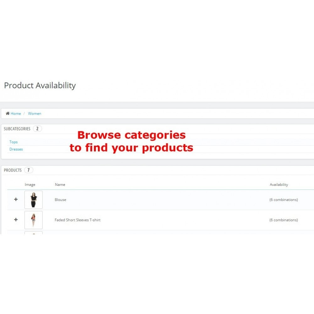 module - Дополнительной информации и вкладок товара - Product Availability - 3