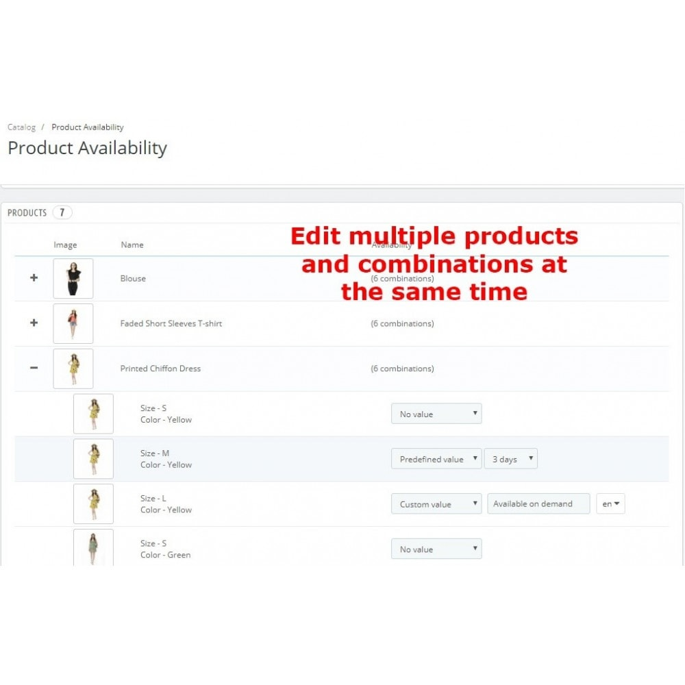 module - Дополнительной информации и вкладок товара - Product Availability - 4